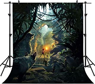 FHZON 5x7ft Fairy Tale Backdrop Forest Wolf Torch Photography Background Theme Party Photo Booth Video Props LXFH427