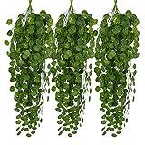 STRIR 6pcs Plantas Enredaderas Artificiales Exterior...
