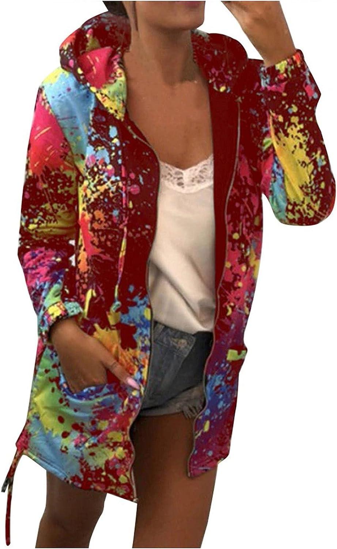 Uppada Fall Jackets for Women Seasonal Wrap Introduction Hoodie Trendy Plus Tie Size Dye Max 55% OFF Lo