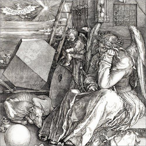 Poster 20 x 20 cm: Melancholie von Albrecht Dürer - hochwertiger Kunstdruck, neues Kunstposter
