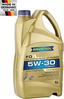 RAVENOL J1A1544 SAE 5W-30 Motor Oil - FO Full Synthetic API SN / SM / SL & ILSAC GF-5 Approved (5 Liter)