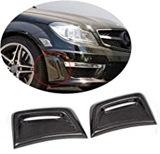 MCARCAR KIT Front Bumper Vent fits Mercedes Benz C Class W204 C63 AMG Sedan 2012-2014 Factory Outlet Carbon Fiber CF Air Fender Cover Exterior Side Scoops Spoiler Protector Splitter