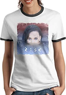 Kemeicle Womens Katy Perry Cartoon Short Sleeves Crop Top Tee Shirt
