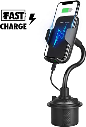 HEY KAULOR Wireless Car Charger Mount 10W Qi Fast Charge Air Vent Phone Holder Compatible with S10+ S10e S9 Note 9 Xs Max XR X 8 Plus Auto Clamping Gravity Sensor Car Mount