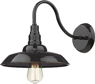 Bestshared Outdoor Barn Light, Farmhouse Gooseneck Light, Exterior Wall Sconce, Industrial Wall Mount Lamp(Black,1Pack)