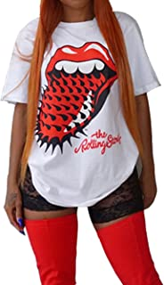 Womens V Neck Tops Hollow Out Shirts T-Shirt Short Sleeve Ripped Hole Top Causal Loose Blouses