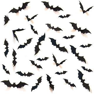 Decorative 3D Bats Wall Stickers, Halloween Party Supplies DIY Decal Wall Stickers Halloween Eve Decor Home Window Decorat...