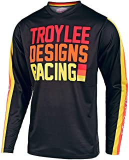 Troy Lee Designs Adult |Offroad|Motocross| GP Jersey Premix 86 (Large, Black/Yellow)