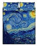 Italian Bed Linen Parure Letto, Matrimoniale, Con Stampa Digitale, Multicolore, 255 X 300 X 1 Cm