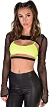iHeartRaves Women's Ultra Crop Top Form Fitting Shrugs