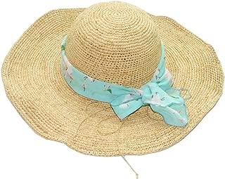 Hats Lafayette with A Fine Crochet Shading Sun Beach Straw Hat Summer Ladies Anti - Wear Big Hat Fashion (Color : Beige)