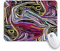 VAMIX マウスパッド 個性的 おしゃれ 柔軟 かわいい ゴム製裏面 ゲーミングマウスパッド PC ノートパソコン オフィス用 デスクマット 滑り止め 耐久性が良い おもしろいパターン (波状パターン抽象的なサイケデリックな渦巻きモダンな多色カールアートファッション)