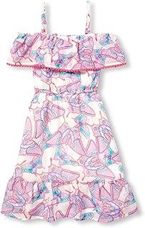 The Children's Place Girls' Big Graphic Ruffle Sleeveless Maxi Dress