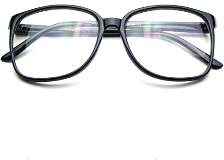 efa254eed5c Emblem Eyewear - Large Oversized Glasses Clear Lens Thin Frame Nerd Glasses