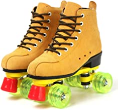 Comeon Classic Women Roller Skates,Unisex High-top 4 Wheel Roller Skates Double Row Roller Sskates for Boys and Girls