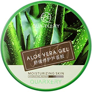 Natural Aloe Vera Gel, Moisturizing Lotion, Refreshing and Soothing Facial Cream, Suitable for Face Arms Legs Nails Hair S...