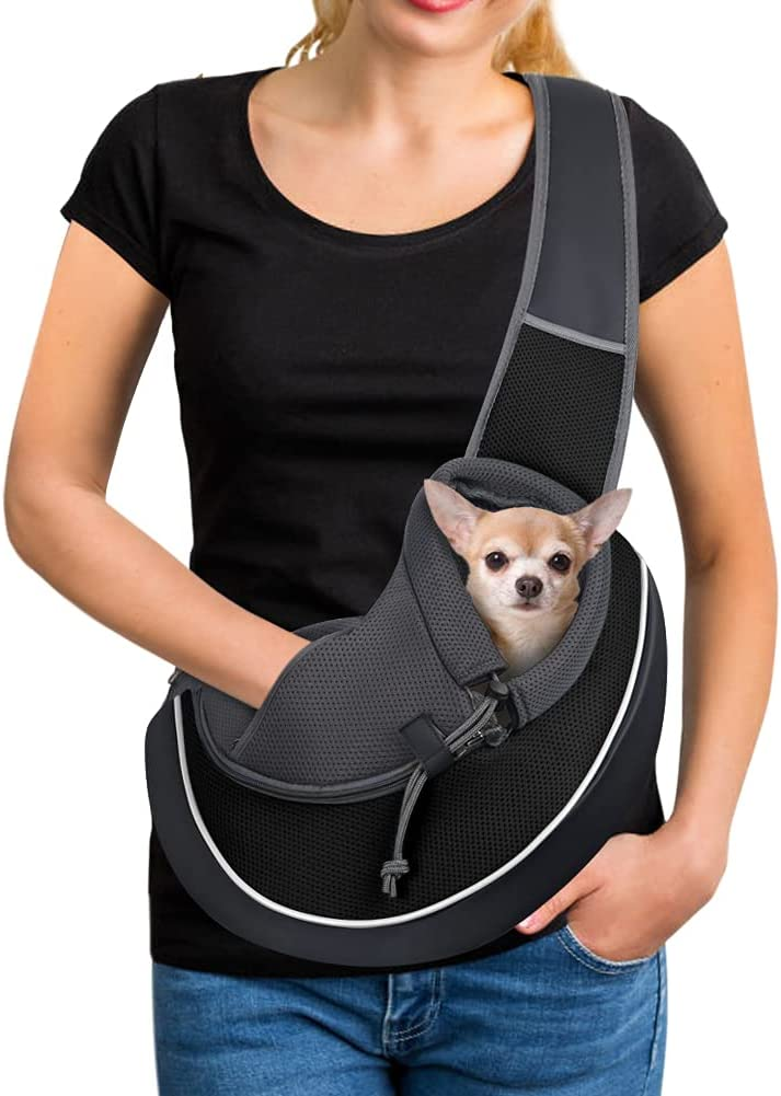 YUDODO Pet Free shipping Max 90% OFF Dog Sling Carrier Adjustable Mesh Satch Hand