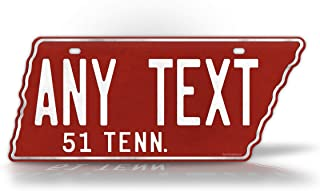 SignsAndTagsOnline 1951 Replica Tennessee State Shaped License Plate Customized Antique Personalized TN Auto Tag