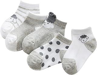 Black Temptation, 5 pares unisex del bebé Calcetines, 1-3 años de edad del bebé del algodón Calcetines [C]