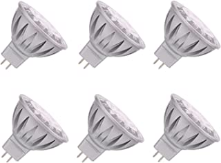 ALIDE MR16 GU5.3 Led Bulbs 5W,Replace 35W Halogen Equivalent,6000K Daylight Bright Cool White,12V Low Voltage Bulb for Track Recessed Ceil Outdoor Landscape Lighting,Not Dimmable,400lm,38 Deg,6 Pack
