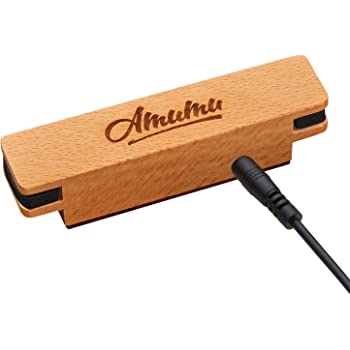 AMUMU NEO-SP30 Woody Magnetic Soundhole Pickup for Steel String Acoustic Guitars Single Coil Rare Earth Neodymium Magnet