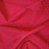 Stoff Baumwolle Punkte ganz klein rot weiß 2,5 mm Tupfen