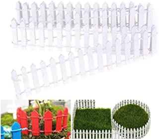 Miniature Fairy Garden Fence,Wood Picket Fence Palisade,Decorative Fence Fencing for Outdoor or House Decor,Moss Framing Ornaments,DIY Micro-Landscape Plant Pots Bonsai Accessories,120