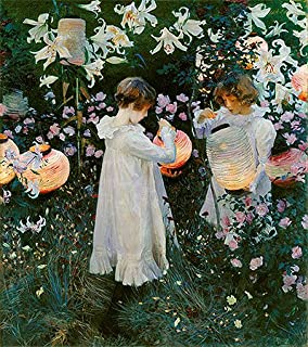 TOPofART John Singer Sargent (Carnation, Lily, Lily, Rose, c.1885/86) Canvas Print Reproduction (21.7x19.2 in) (55x48.7 cm)