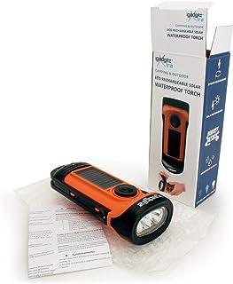 TuDu Blue-3//éclairage de lampe torche dynamo /à LED par pression de la main Manivelle NR