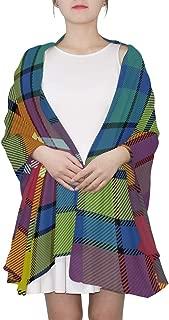 Buchanan Ancient Tartan Scarves Women Lightweight Fashion Fall Winter Shawl Wraps