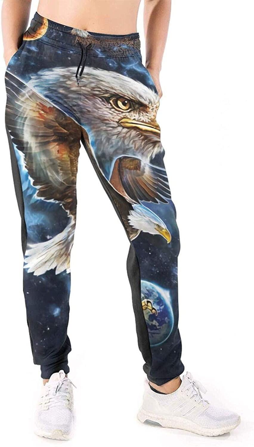 Women Joggers Pants Galaxy Ea-Gle Planet Abstract Moon Athletic Sweatpants with Pockets Casual Trousers Baggy