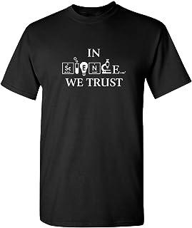Feelin Good Tees Science We Trust Funny Atheist Novelty Sarcastic Funny T Shirt