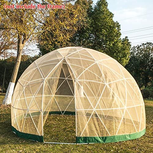 Patiolife Garden Dome Mesh Cover 12ft - Geodesic Dome Mesh Cover Summer Ultra-fine - Bubble Tent Mesh Cover with Door and Windows for Sunbubble, Backyard, Outdoor Summer, Party