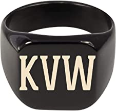 Molandra Products KVW - Adult Initials Stainless Steel Ring