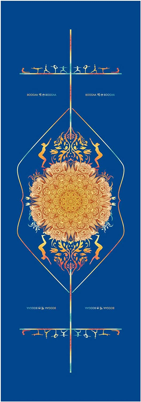 KALOAD Mikrofaser-Yoga-Handtuch, doppelseitig, Rhombus, rutschfest, super schWeißabsorbierend, antibakteriell, Fitness-Yoga-Matten