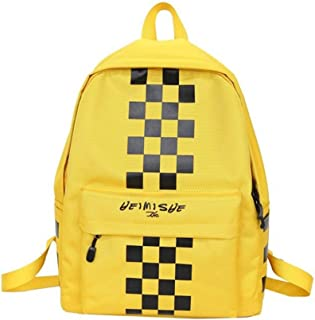 Leng QL Personality Backpacks Simple High School Student Couple Schoolbag Outdoor Activities Backpack