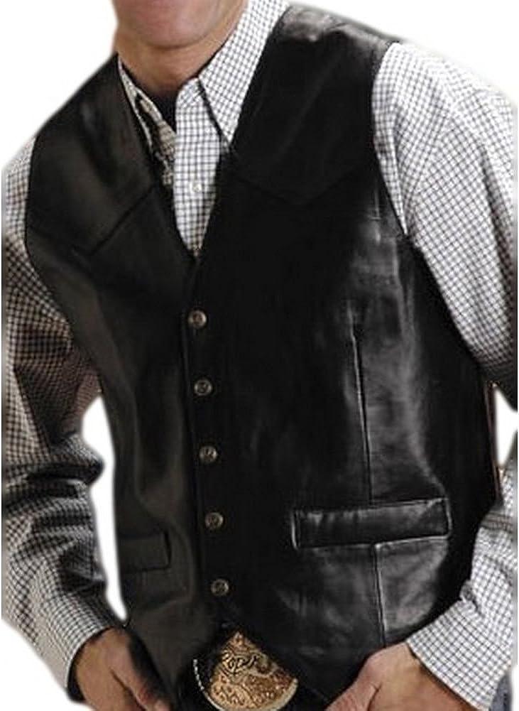 Roper Men's Lamb Leather Vest