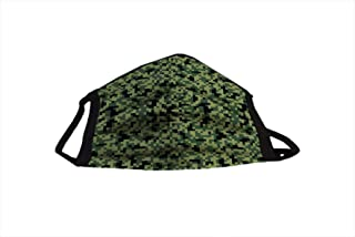 Camouflage Green AQKUA MASK Fashion FACE MASK Outdoor Professional & Comfortable Elastic Loop for 8+ Hours use. Washable & Reusable Made in USA