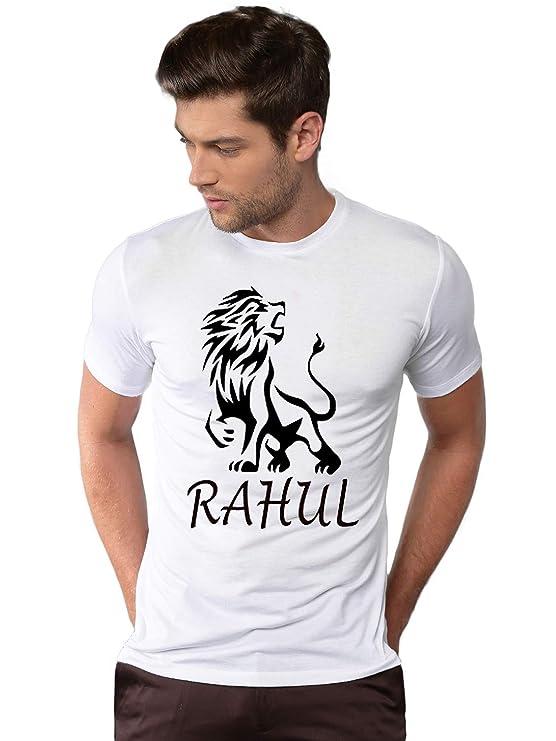 YFB Mens Round Neck Printed Reguler Fit Half Sleeve White T Shirt