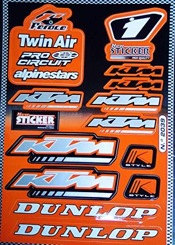 KTM Dunlop Aufkleber Sticker Set Sponsor