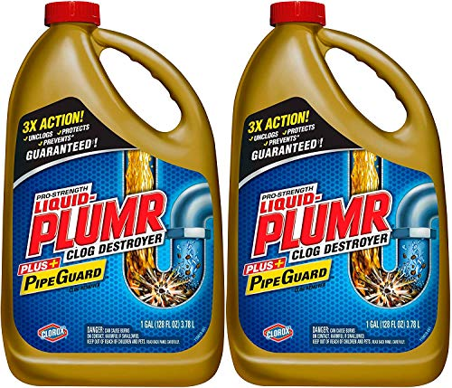 Liquid-Plumr Pro-Strength Full Clog Destroyer Plus PipeGuard (80 fl oz (Pack of 2))
