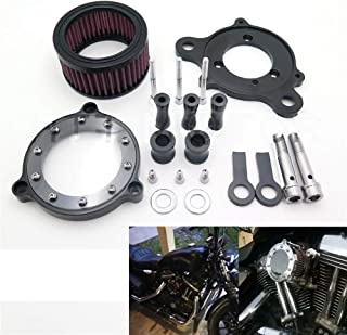 HTTMT MT225-013-BK Black Air Cleaner Intake Filter Systems Compatible with 2004-2015 Harley Sportster XL 883 1200 Custom