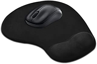 GIM Mouse Pad with Gel Wrist Rest Support, Ergonomic Mouse Cushion with Non Slip Rubber Base Mouse Pad for Laptop, Computer, Gaming, Office