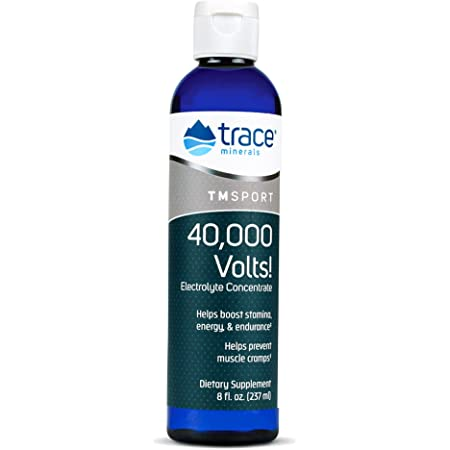 Trace Minerals – 40,000 Volts! (8oz)   Liquid Electrolyte Concentrate Drops   Relief of Dehydration, Leg & Muscle Cramps   Energy Support with Magnesium, Potassium, Sulfate, Boron & Trace Minerals