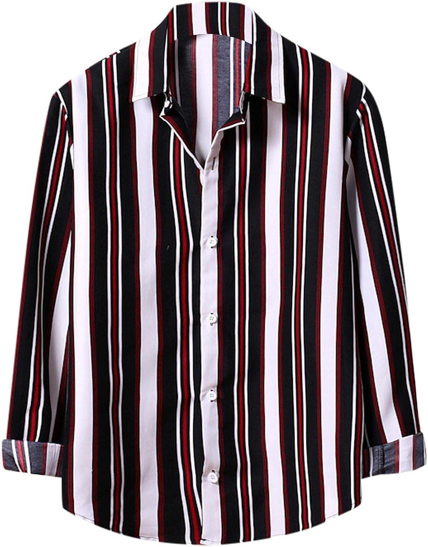 Men Button Up Shirt Long Sleeve Regular Fit Casual Hawaiian Floral Printed Shirts Blouses Tops Beach Dress Shirts