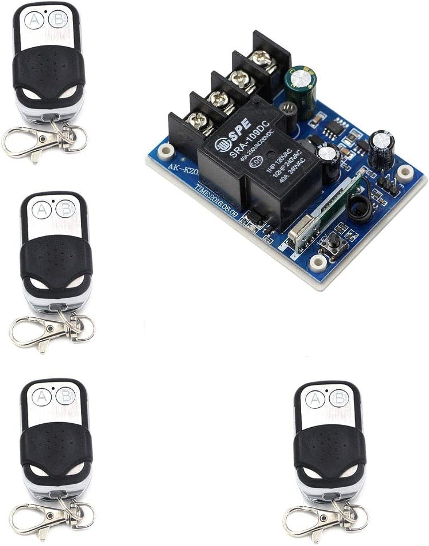 New DC 12V 24V 36V 48V 30 A 1 CH RF Wireless Remote Control 1  Receiver & 4 Transmitter for Light Led Lamp  (color  315mhz)
