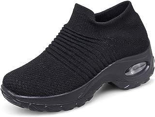 cf6f61c974c Zapatos Deporte Mujer Zapatillas Deportivas Correr Gimnasio Casual Zapatos  para Caminar Mesh Running Transpirable Aumentar Más