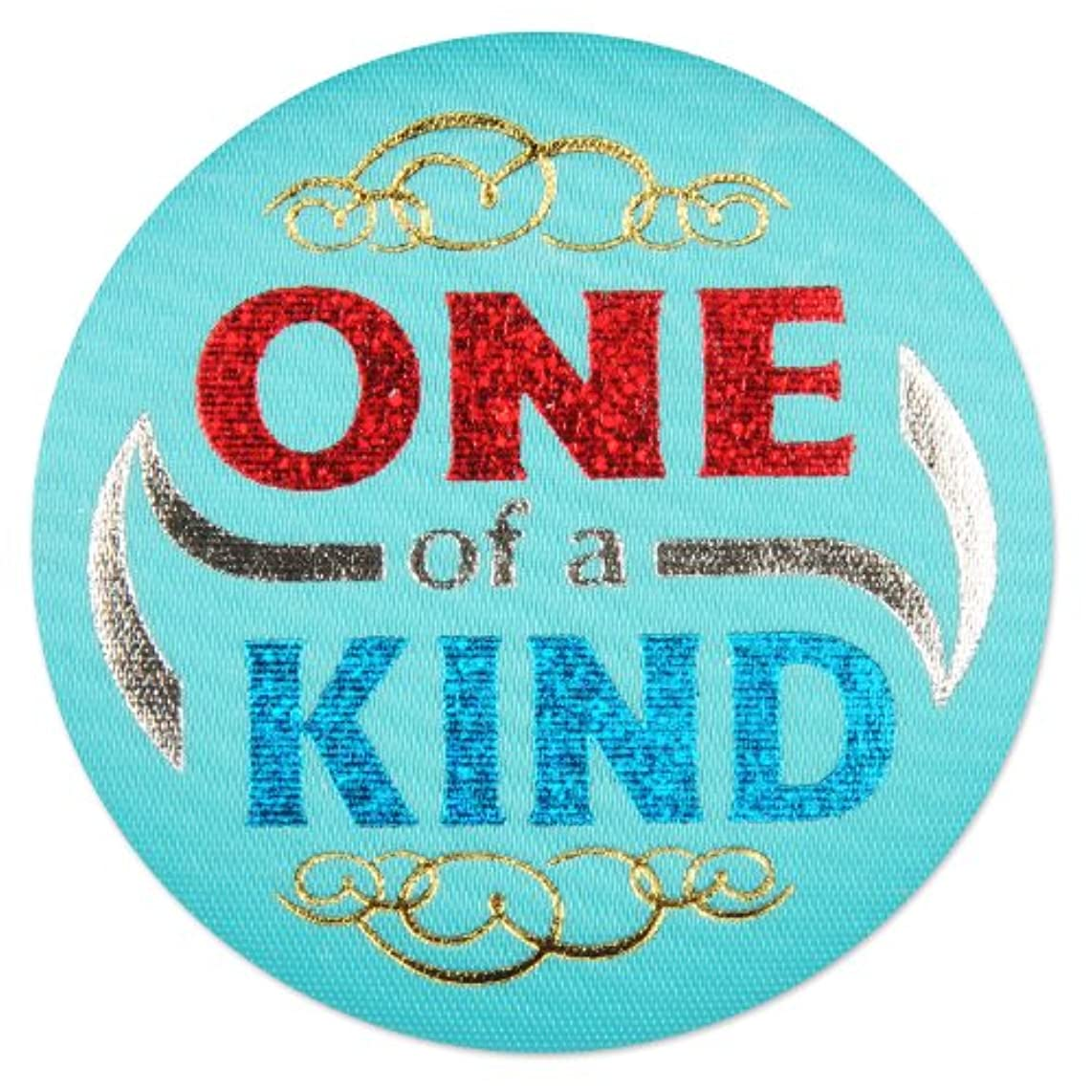 Beistle BN121 6-Piece One of a Kind Satin Button, 2-Inch