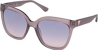 Guess Women's GU7612 GU7612 83Z Cateye Sunglasses, Pink, 55 mm