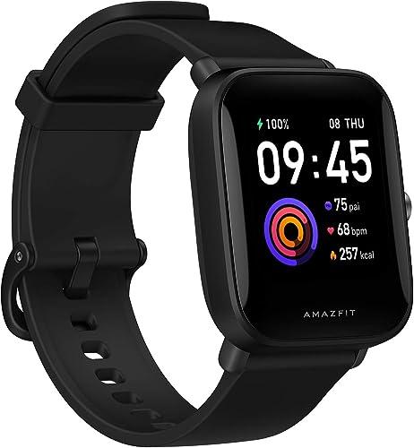 Smartwatch Amazfit Bip U Health Fitness com medida SpO2, bateria de 9 dias, respiração, ritmo cardíaco, estresse, mon...
